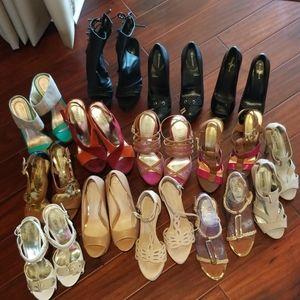 Name brand, very lightly worn 3+ inch heels